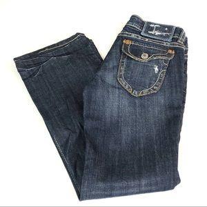 MEK DNM New York Bootcut Dark Denim Jeans Sz 26